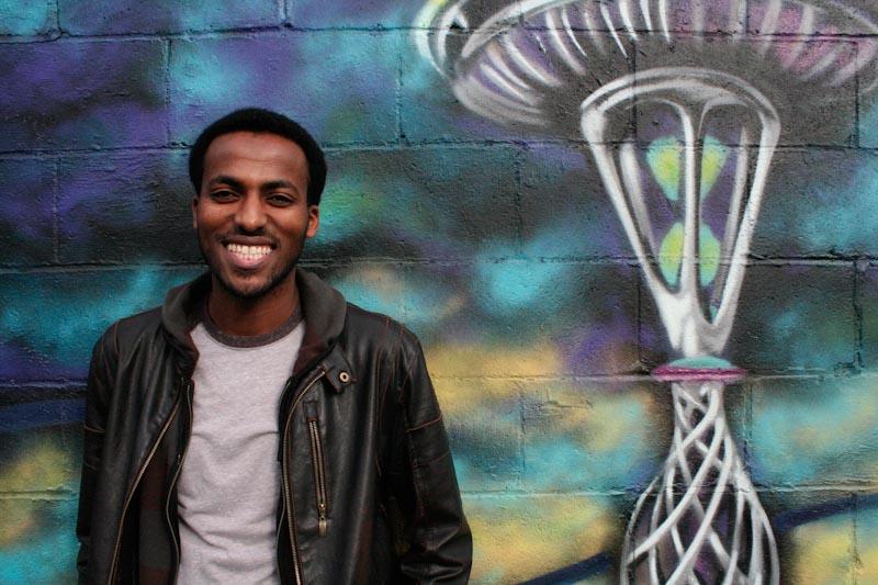 Semone Andu outside his business, Da Spot Hookah Lounge. (Photo by Christian Zerbel)
