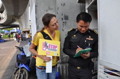 "Thai Policeman signing ECPAT's petition <a href=""http://www.ecpat.net/TBS/en/support_campaign.html"">'Stop Sex Trafficking of Children and Young People' </a> a precursor to ""The Code"". (Photo courtesy ECPAT International)"