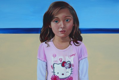 """""""Gosei"""" depicts Laura Kina's daughter and is one of Kina's five pieces at the new Wing Luke Museum exhibit, Under My Skin. (Photo via laurakina.com)"""