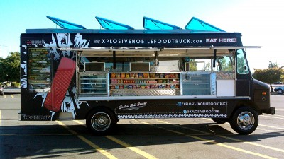 It's hard to miss this truck serving up food in different neighboorhoods each week. Check their Facebook and Twitter pages for weekly locations. (Photo via Xplosion Facebook page)