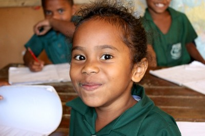 A student in rural Fiji. (Photo courtesy Rise Beyond the Reef)