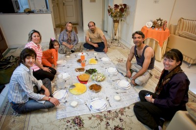 A Persian mehmooni can take on a lot of different forms, but they always include guests, hospitality, and a lot of food. (Photo by Nick Taylor )