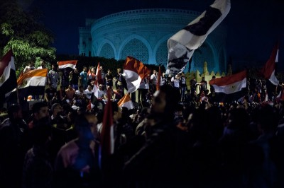 "Crowds gather outside the Presidential Palace on June 30th, a national day of protest, to demand that the president step down. (Photo by <a href=""http://www.keithlanephotography.com/"">Keith Lane</a>)"
