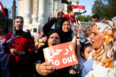 Thousands gather outside the presidential palace in Cairo on July 2nd demanding the removal of Egyptian president Mohamed Morsi. (Photo by Keith Lane )
