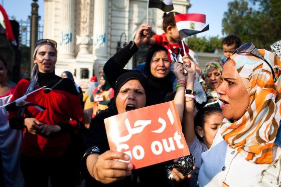 "Thousands gather outside the presidential palace in Cairo on July 2nd demanding the removal of Egyptian president Mohamed Morsi. (Photo by <a href=""http://www.keithlanephotography.com/"">Keith Lane</a>)"