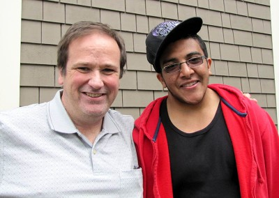 Jim Piper and Mohammad, right, an exchange student from Yemin. (Photo courtesy of AFS)
