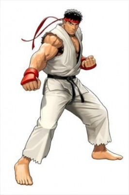 Ryu, from Street Fighter, is one of the most famous fighting game characters. (Photo via Wikipedia)
