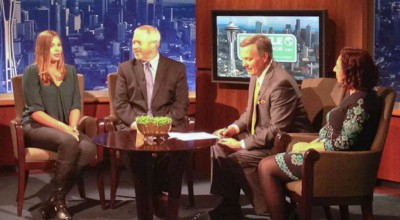 Pelk talks with Seattle Mayor Mike McGinn and Bookda Gheisar on KING 5 following her selection as the first Seattle Ambassador.