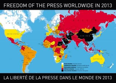 Press freedoms around the world.