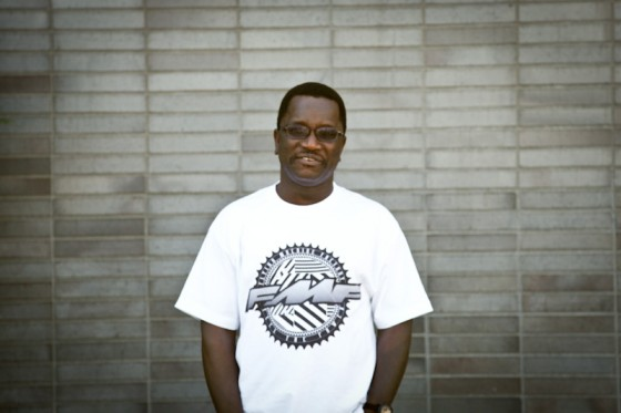 Salifu Mansaray, in Burien where he works with mentally ill seniors at NAVOS Mental Health Solutions. (Photo by Sandi Halimuddin)