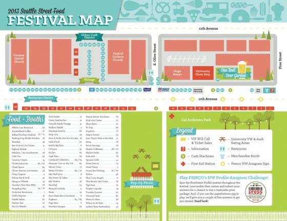 Seattle Street Food Festival Map