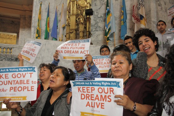 People's Hearing on the Washington DREAM Act & Voting Rights Act. Photo thanks to OneAmerica.