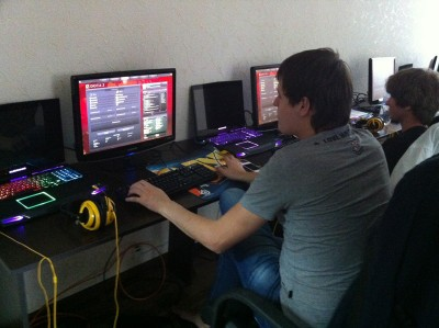Inside the Na'Vi training room in Kiev, August 2012. Photo by Sarah Stuteville.