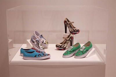 Custom-painted shoes by Louie Gong.