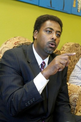 Anyab Abdirahman, Director for Global Development at Raja for Africa in South Seattle. (Photo by Greg Gilbert / The Seattle Times)