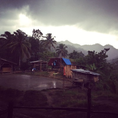 A summer rainstorm in the Philippines. (Photo by Jill Mangaliman)