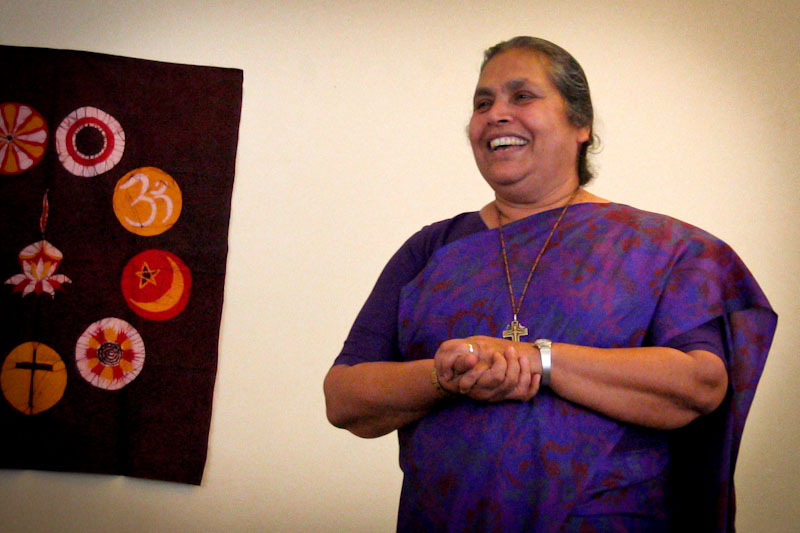 Sister Lucy Kurien on a 2011 visit to Tacoma. (Photo via Catherine Place)