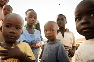 Children who live on Rusinga Island in western Kenya. (Photo by Jason Koenig)