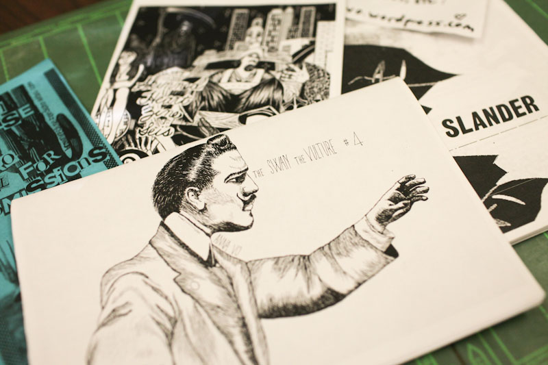 Zines picked up at the Race Riot! Tour stop on Capitol Hill last week. (Photo by Alex Stonehill)