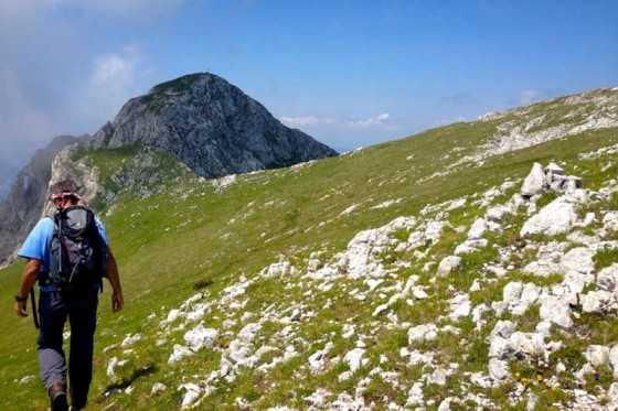 Fikret Kahrovic heading toward the summit of Mount Maglic. (Photo by Anna Callaghan)