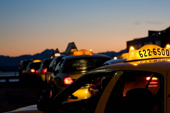 "Is the sun setting on traditional taxi services in Seattle? (Photo by <a href=""http://www.flickr.com/photos/amanky/"">Amancay Maahs </a>via Flickr)"