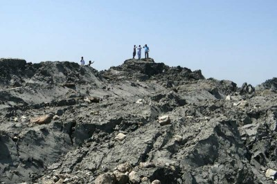 Quirky news of a newly formed island off the coast of Pakistan has overshadowed coverage of the casualties from the earthquakes. (Photo via Gwandar local government)
