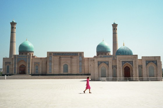 "A mosque showing the traditional architectural style in Tashkent. (Photo by <a href=""http://www.flickr.com/photos/so11e/"">so11e </a>via Flickr)"
