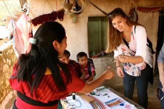 Jozlyn Pelk in Guatemala (Photo by Gloria Mayne / The Seattle International Foundation)