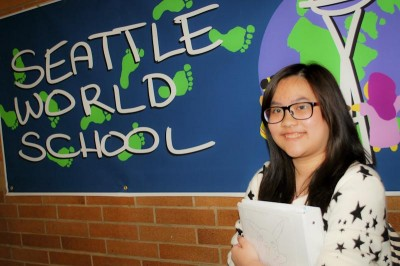 Jia Yin Tan, 16, decided to return to the Seattle World School after two semesters at Franklin. (Photo by Valeria Koulikova)