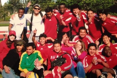 """The Internationals"" – The first soccer team of the Seattle World School in 2006. (Photo courtesy of Valeria Koulikova)"