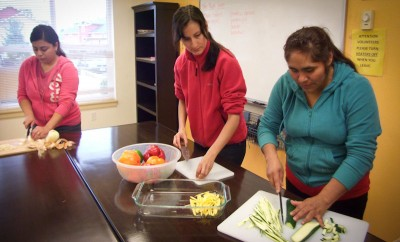 Farm workers in Whatcom County learn to cook healthier meals in classes offered by a Bellingham non-profit. (Photo courtesy Community to Community)