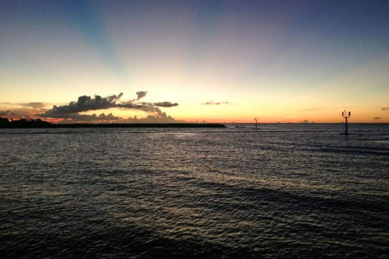The sun sets in Hagatna, Guam. (Photo by Michelle Conerly)