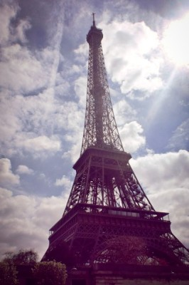 The Eiffel Tower, beautiful from the street, but only accessible to the 2nd deck. (Photo by Hannah Langlie)