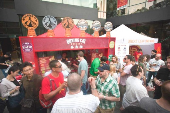 The Boxing Cat booth at last year's Shanghai Beer Week. (Photo courtesy Michael Jordan)