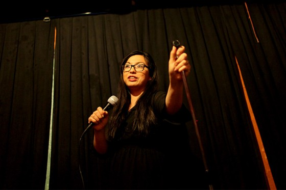 Mona Concepcion performs at the Rendezvous in Belltown. (Photo by Sara McCaslin)