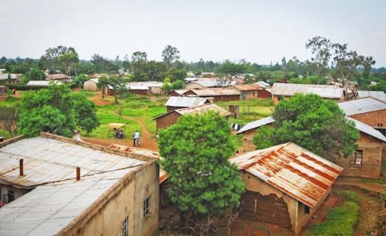 "An overhead view of Manyatta, a ""slum"" in Kisumu, Kenya. (Photo by Simon Okelo)"