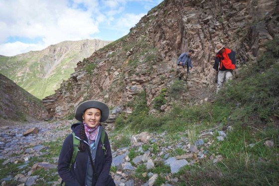 Garfield High School student Alexia Fite tracking leopards in Tibet with the Trust last summer. (Photo courtesy Alexia Fite)