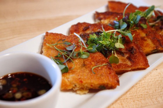 Mung bean kimchi pancakes at Chan. (Photo courtesy Chan Restaurant)