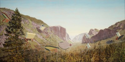 Shipbreaking, Yosemite Valley. (Painting by Mary Iverson)