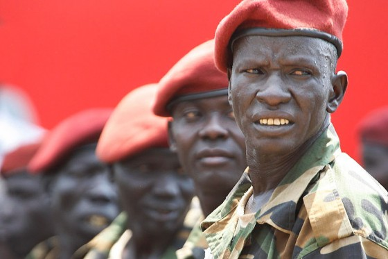 Members of South Sudan's Presidential Guard on Independence Day in 2011. (Photo by Steve Evans via Wikipedia)