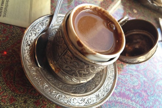 Turkish Coffee at  Café Turko in Fremont. (Photo by Brett Konen)