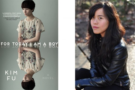 Kim Fu (right), the Seattle-based author of the new novel For Today I Am A Boy