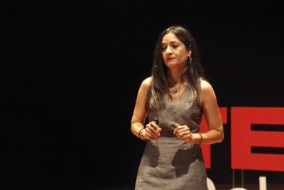 Lauren Ornelas speaks at a TEDx conference in San Francisco. (Photo courtesy of Lauren Ornelas)