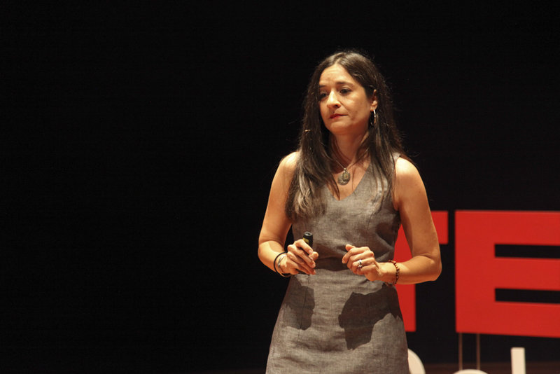 Food Empowerment Project founder Lauren Ornelas speaks at a TEDx conference in San Francisco. (Photo courtesy of Lauren Ornelas)