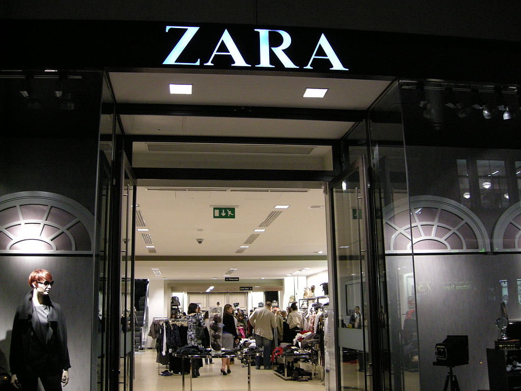 Zara storefront in London, UK. (Photo by Aurelijus Valeiša via Flickr)