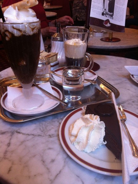 Coffee tip pic (Melange coffee drink popular in Viennese cafes) photo courtesy of Tori Hartman