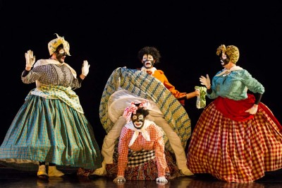 """Spectrum Dance Theater performs Donald Byrd's """"The Minstrel Show Revisited."""" (Photo by Nate Watters)"""