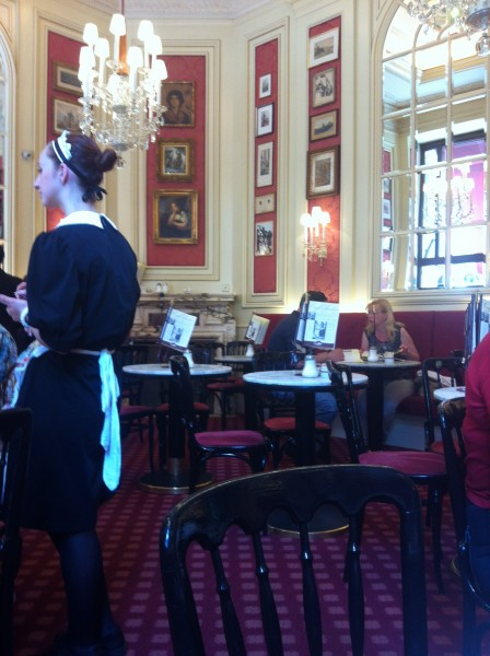 Don't tip pic ( waitress from Cafe Sacher in Vienna) photo courtesy of Tori Hartman
