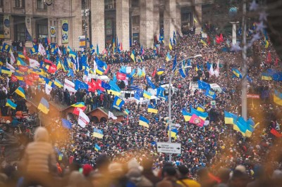 Protestors in Ukraine initially turned out in support of EU membership last year, but dissent over corruption quickly came to the forefront. (Photo by Nessa Gnatoush via Wikipedia)