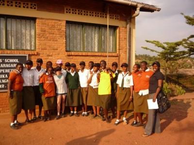 President and founder of Richard's Rwanda-IMPUHWE Jessica Markowitz visits the FAWE all-girls boarding school in the Rwandan capital of Kigali during the organization's annual summer trip to Rwanda. (Photo courtesy of Lori Markowitz)